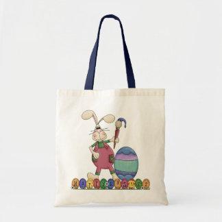 Bolso feliz del conejo de Pascua Bolsa Tela Barata