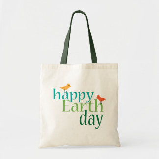 Bolso feliz del Día de la Tierra Bolsa Tela Barata