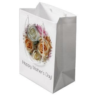 Bolso feliz del regalo del día de madre bolsa de regalo mediana