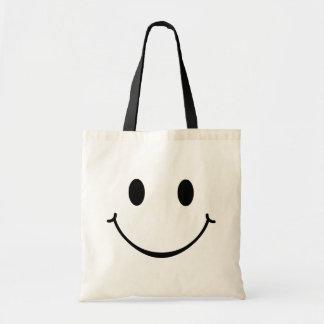 Bolso feliz sonriente de la cara bolsa tela barata