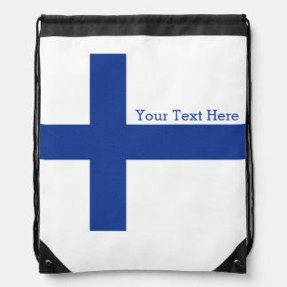 Bolso finlandés del personalizado de la bandera mochila