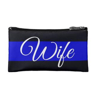 Bolso fino de los cosméticos de la esposa de Blue