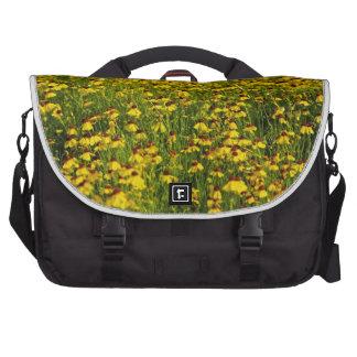 Bolso floral amarillo del viajero de la foto de la bolsa para ordenador
