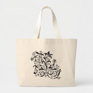bolso floral bolsa de tela grande