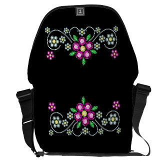 Bolso floral del carrito de Bling Bolsas De Mensajería
