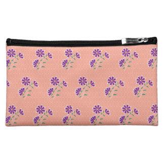 Bolso floral del cosmético del batik de Tula