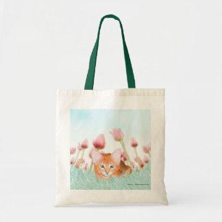Bolso floral del gatito