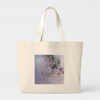 Bolso floral del rezo de la serenidad bolsa de mano