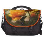 Bolso floral del viajero bolsas de portátil