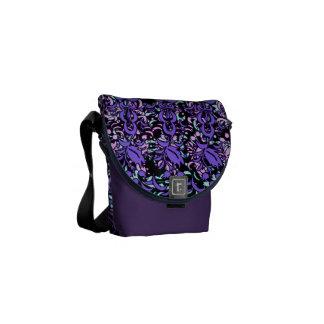 Bolso floral púrpura del diseño de las capas bolsa de mensajería