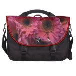 Bolso floral rosado brillante del viajero bolsas para portatil