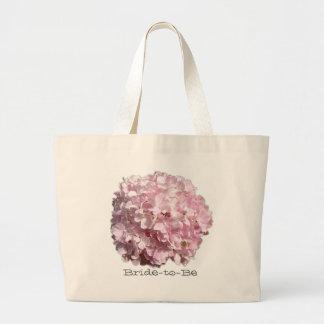 Bolso floral rosado del boda del Hydrangea Bolsa Tela Grande