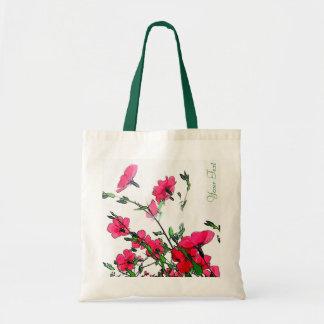 Bolso floral rosado rojo bonito de Customizeable Bolsa Tela Barata