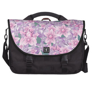Bolso floral verde púrpura rosado del ordenador po bolsas para portatil