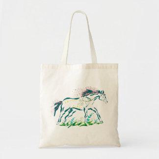 Bolso florido del caballo bolsa de mano