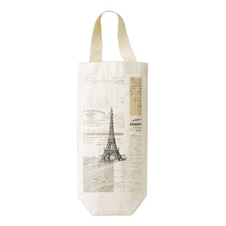 Bolso francés del vino de las Ephemeras de París