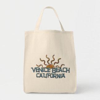 ¡Bolso fresco de la playa de Venecia! Bolsa Tela Para La Compra