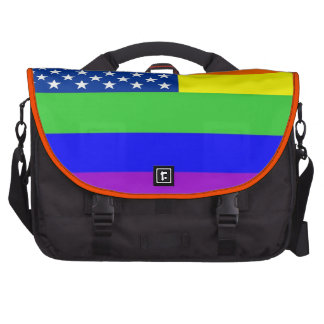 Bolso gay del ordenador de la bandera del orgullo  bolsas de portatil