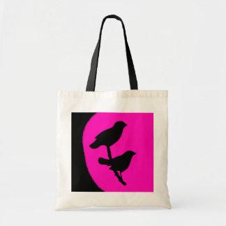Bolso gemelo razberry negro rosado de la moda de l bolsas