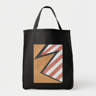 Bolso geométrico rojo y anaranjado del adorno bolsa tela para la compra