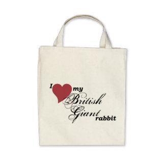 Bolso gigante británico del conejo bolsas de mano