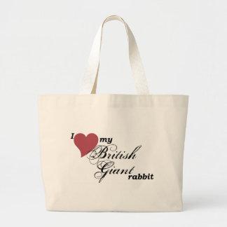 Bolso gigante británico del conejo bolsas lienzo