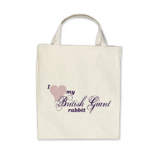 Bolso gigante británico del conejo bolsa lienzo