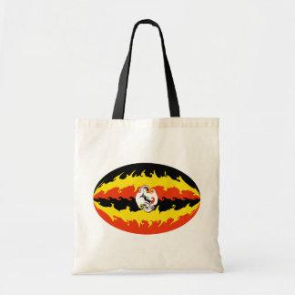Bolso Gnarly de la bandera de Uganda Bolsa De Mano