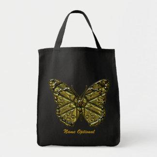 Bolso grabado de la mariposa 2 bolsa tela para la compra