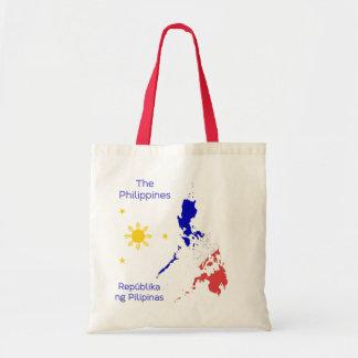Bolso gráfico de la lona del mapa de Filipinas Bolsa De Mano