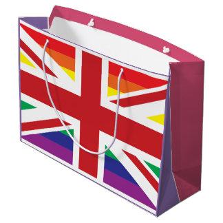 Bolso grande BRITÁNICO del regalo del GAY (BANDERA Bolsa De Regalo Grande