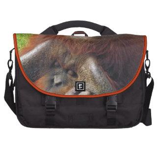Bolso grande de la foto divertida del orangután el bolsa para ordenador