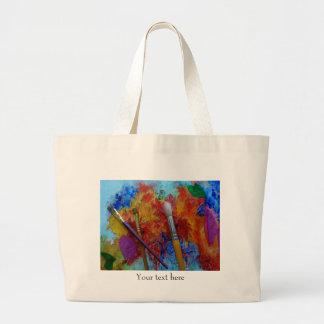 Bolso grande de la pintura del tote - modifique bolsa tela grande