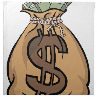 Bolso grande del dinero servilleta de papel
