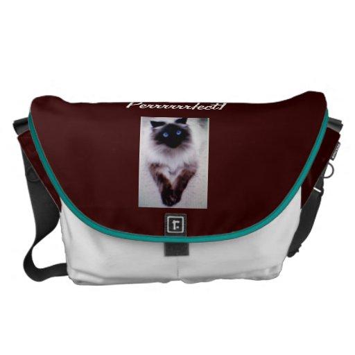 Bolso grande del mensajero siamés perfecto del gat bolsas de mensajería