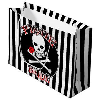 Bolso grande del regalo de la novia del pirata bolsa de regalo grande