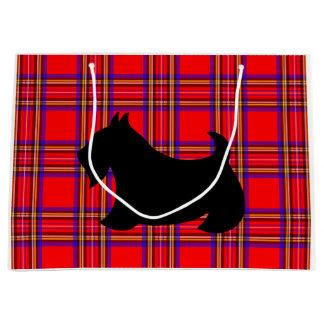 Bolso grande del regalo de Terrier del escocés Bolsa De Regalo Grande