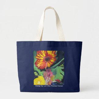 Bolso grande florecido de la playa bolsas de mano