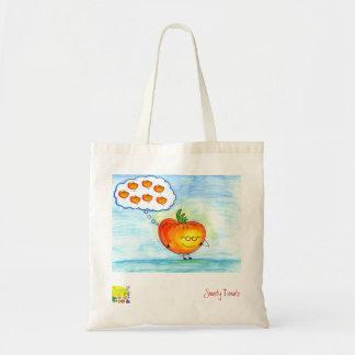 Bolso grande ideal del tomate bolsa tela barata