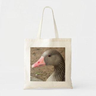 Bolso gris de la foto del ganso bolsas de mano