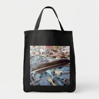 Bolso gris de la pluma 1 de la gaviota bolsa tela para la compra