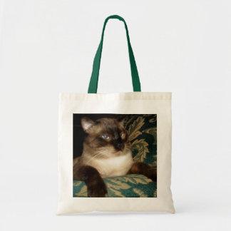 Bolso gruñón del gato siamés bolsa tela barata