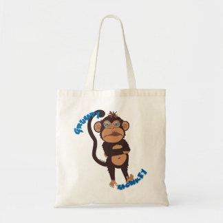 Bolso gruñón del mono bolsa tela barata
