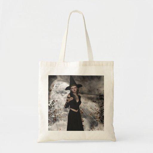Bolso hermoso de la bruja de Halloween Bolsas De Mano