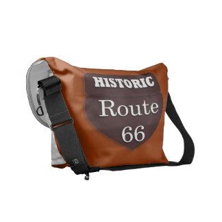 Bolso histórico de la ruta 66 bolsa de mensajeria