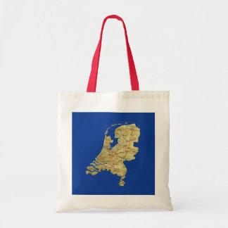 Bolso holandés del mapa bolsa tela barata