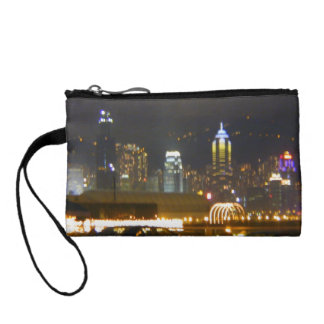 Bolso horizonte de la ciudad de Hong Kong, China