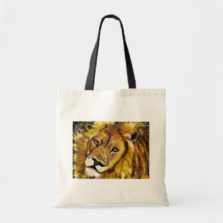 Bolso impresionista del león bolsa tela barata