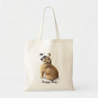 Bolso inglés del perro de perrito del dogo bolsa tela barata