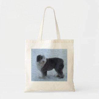 ¡Bolso inglés viejo del perro pastor - perro de la Bolsa Tela Barata